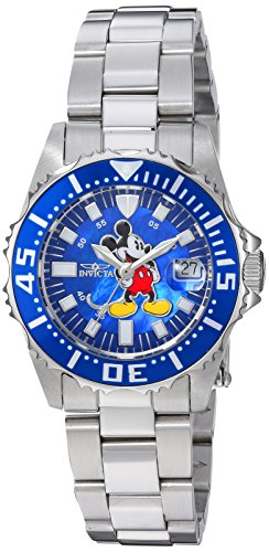 Invicta Women's Disney Limited Edition Quartz Watch with Stainless-Steel Strap, Silver, 16 (Model: 25571 ()