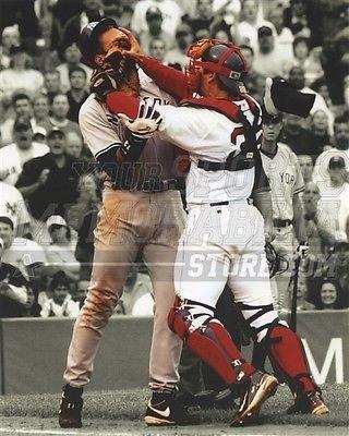 huge selection of 0f2ab 9fdee Amazon.com: Jason Varitek Red Sox shoving Arod in the face ...