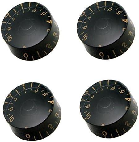 Gazechimp Control de Botones Perilla de Volumen con Letras Para SG LP Guitarra