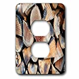 3dRose TDSwhite – Miscellaneous Photography - Dry Firewood - Light Switch Covers - 2 plug outlet cover (lsp_285314_6)