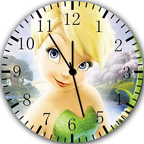 Borderless Disney Tinkerbell Frameless Wall Clock X56 Nice For Decor Or Gifts