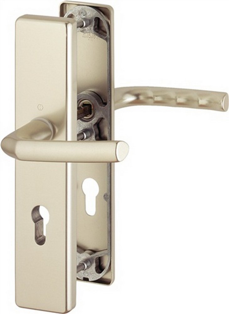 Hoppe ZT-Schutz-Drü cker-Garnitur Birmingham 72mm, 1117/2221A/2440, TS 37-42mm Alu F1 EDE Bau- und Möbelbeschläge 4012789066555