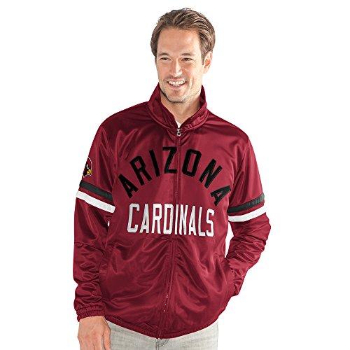 G-III Sports NFL Arizona Cardinals Veteran Track Jacket, Large, Cardinal (G-iii Jacket Mens)