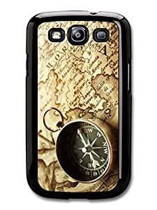 Inspiring Old Compass and Travel Map, Adventure carcasa de Samsung Galaxy S3