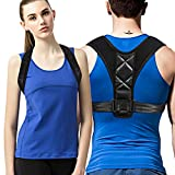 Posture Corrector,Effective and Comfortable Adjustable Clavicle Chest Support Back Brace with Two Soft Pad for Men and Women (REG 28''- 47'')