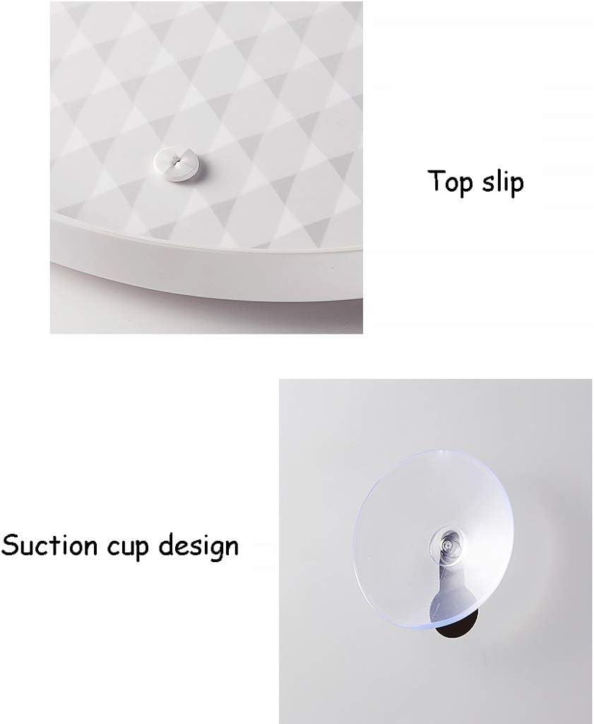 Panier de Rangement for Salle de Bain rotative Triangle de poin/çonnage Gratuit Coin Couvert /étanche /à la poussi/ère Conception Couverte ZHJING Color : Gray, Size : Small 42 * 19 * 19CM
