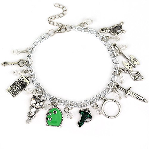 J&C Family Owned Lord of The Rings 10 Logo Charms Lobster Clasp Bracelet w/Gift Box ()
