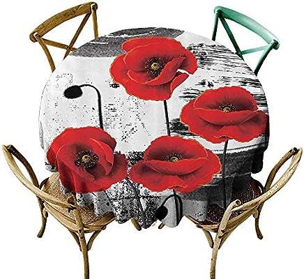 StarsART - Mantel Redondo con diseño de Flor de lis, diseño de ...