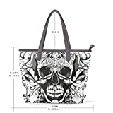 Punk Skull Women's Fashion Large Tote Shoulder Bag Ladies Handbag