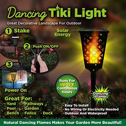 scgtpapadc Solar Power Flame LED Lamp Lawn Garden Courtyard Light Waterproof Lamp
