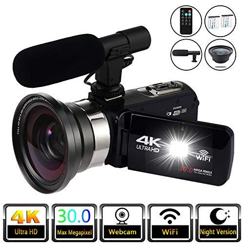 Video Camera Camcorder Vlogging Camera 4K Digital Camcorder Video Recorder YouTube Vlogging WiFi Camera 30.0MP Webcam for Live Streaming KOMERY Video Camera 16X Digital Zoom with Remote Control