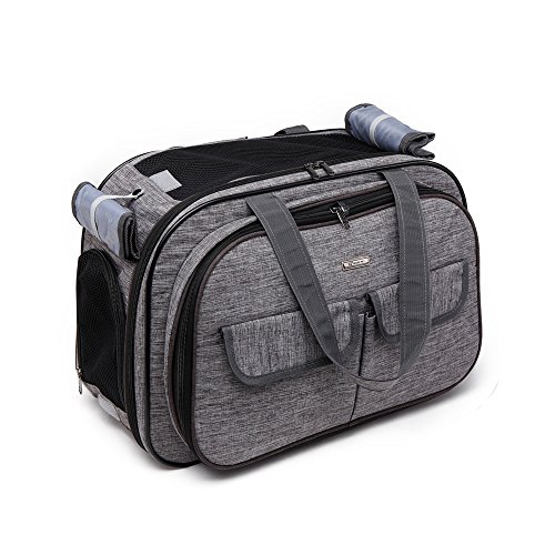WOpet Fashion Airline Approved Pet Carrier Luxury Cat Travel Carrier Pet Travel Carrier for Small and Medium Dogs or Cats