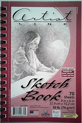 Artist Line Sketch Book 9 inch x 6 inch by Artist Line (Image #1)
