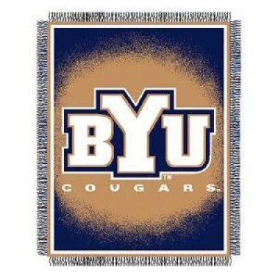 - NCAA Brigham Young Cougars 48'' x 60'' Focus Series Acrylic Triple Woven Blanket Throw
