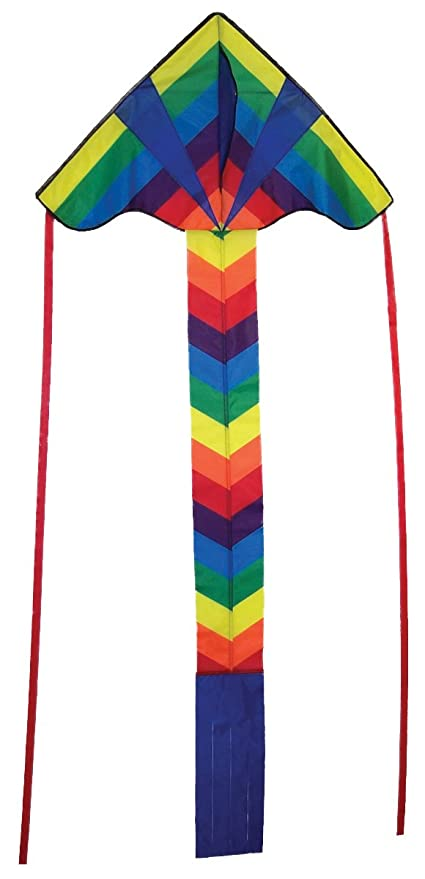In The Breeze Rainbow Arrow Fly Hi Delta Kite Kites 29-Inch 2906 Leisure Sports & Game Room