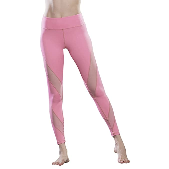 Amazon.com: favobodinn pantalones de yoga malla ...