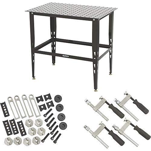 Klutch Steel Welding Table with Tool Kit – 36in.L x 24in.W x 33 1/4in.H