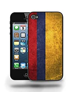 Colombia National Vintage Flag Phone Case Cover Designs for iPhone 4