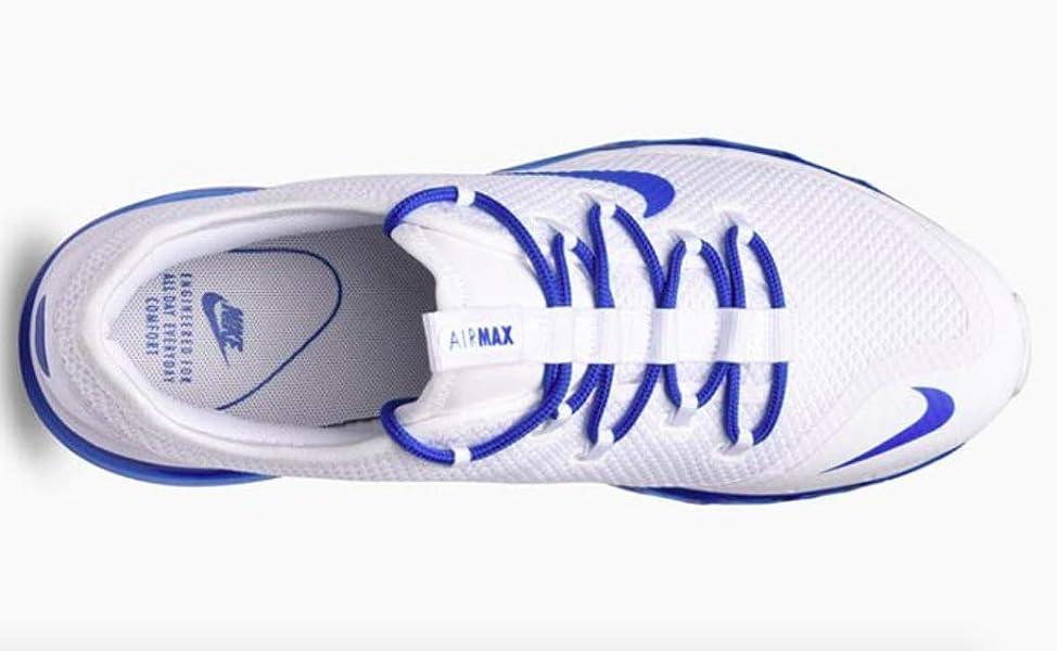 a0e86a2e7c Amazon.com | NIKE AIR MAX More 2009 2013 2017 White-Game Royal Blue ...