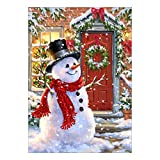 Adarl 5D DIY Full Diamond Painting Rhinestone Christmas Snowman Pictures of Crystals Embroidery Kits Arts, Crafts & Sewing Cross Stitch