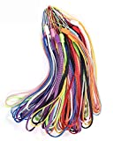50PCS Pack 7-Inch Colorful Hand Wrist Strap Lanyard for USB Flash Drive, Keys, Keychain, ID Badge Holder, Name tag and Other Small Portable Items (10-Assorted Colors)