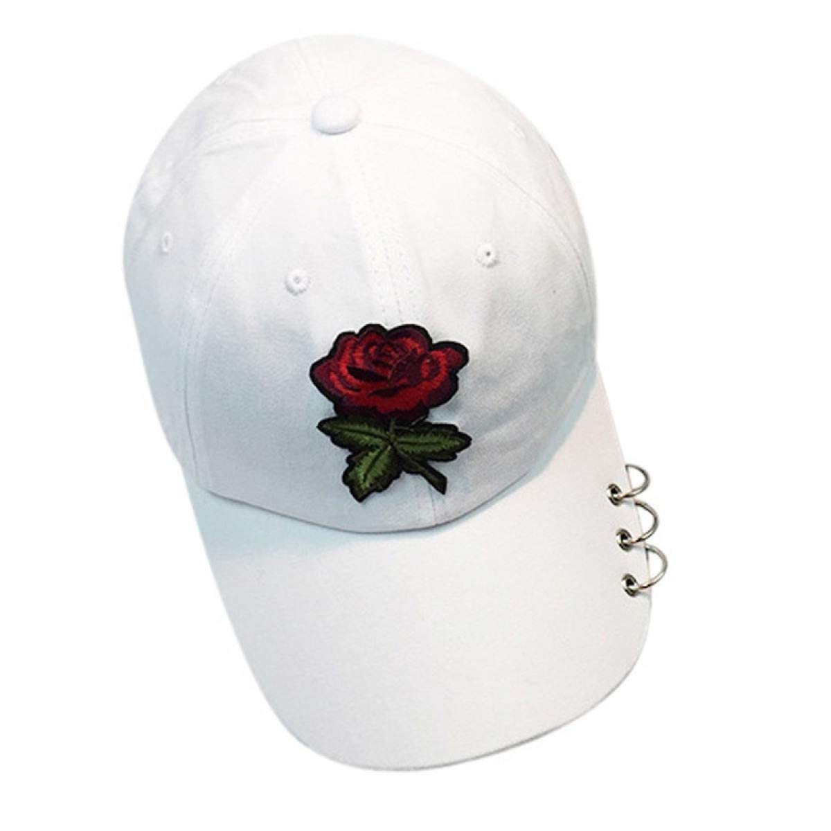 Women Baseball caps Summer Flower Girl Rose Snapback Hip Hop Flat Hat Female Pink at Amazon Womens Clothing store:
