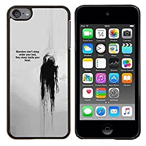 Eason Shop / Premium SLIM PC / Aliminium Casa Carcasa Funda Case Bandera Cover - Cita Pensamiento Jefe Mental - For Apple iPod Touch 6 6th Touch6