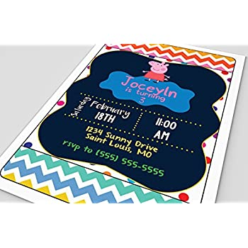 Customized Peppa Pig Birthday Party Invitation