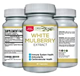 Pure White Mulberry Leaf Extract – Premium 1000mg – Natural Blood Sugar Stabilizing & Weight Loss Support Supplement – Antioxidant Rich & High In Fiber and Protein For Sale