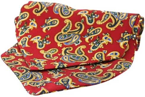 Red Twill Silk Self Tie Cravat by David Van Hagen