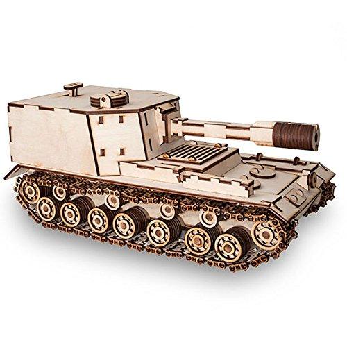 EWA Panzer (Tank) SPG 212 3D Puzzle Modell aus Sperrholz