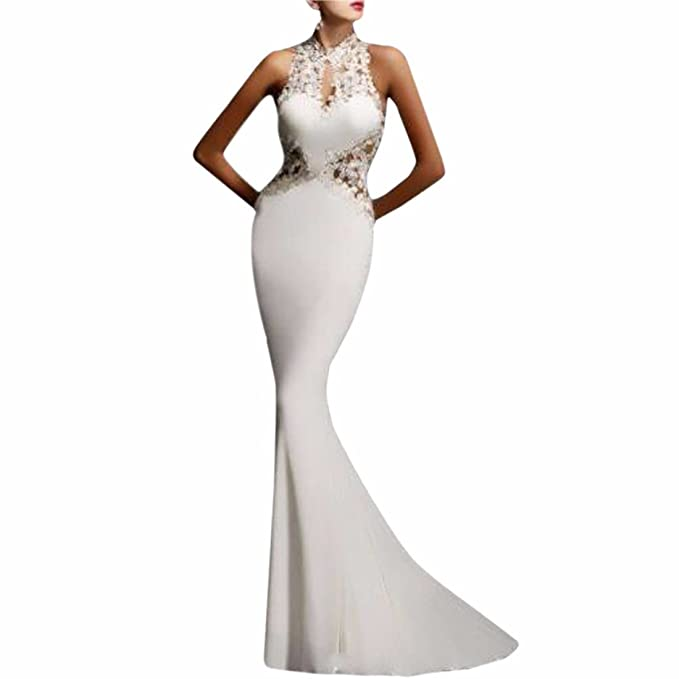 2dd42ae48cd8d Image Unavailable. Image not available for. Colour: Womens Prom Evening  Formal Party Dress ...