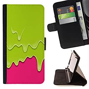 King Art - Premium-PU-Leder-Prima caja de la PU billetera de cuero con ranuras para tarjetas, efectivo Compartimiento desmontable y correa para la mu?eca FOR Samsung Galaxy S4 Mini i9190 I9192- Cute Girl