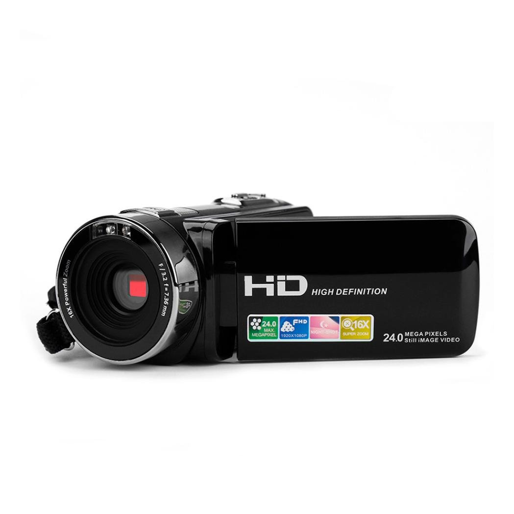 Putars Black Friday Sales Promotions, Portable 1080P 24MP 16X Zoom HD Video Recorder Camera FHD 1920X1080P Digital Video Camcorde with 3.0'' LCD and 270 Degree Rotation Screen(include 8G Memory Card)