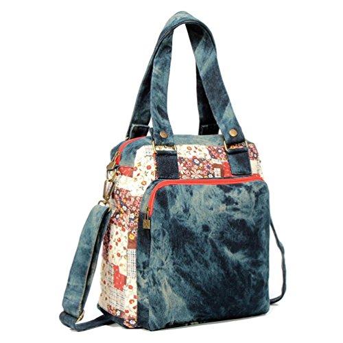 Chang Spent bolsa de lona de los estudiantes marea hombro nacional del viento de las nuevas mujeres , blue Blue