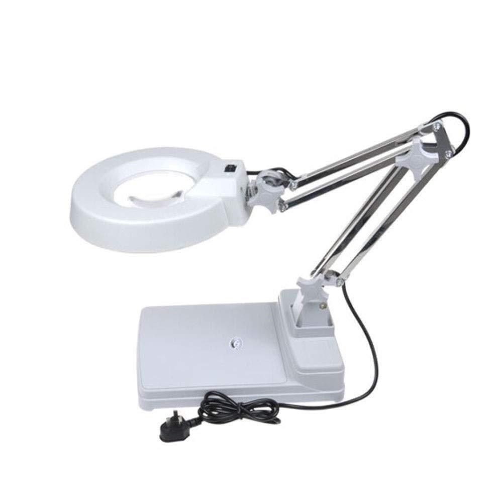 Handheld magnifier Led Magnifying Lamp Desktop Magnifier Lamp With Led Light Folding Magnifier Desktop Lamp 10 X Magnification Adjustable Swivel Arm For Desk Table Task Craft Or Work Bench Multipurpos by LHBNH