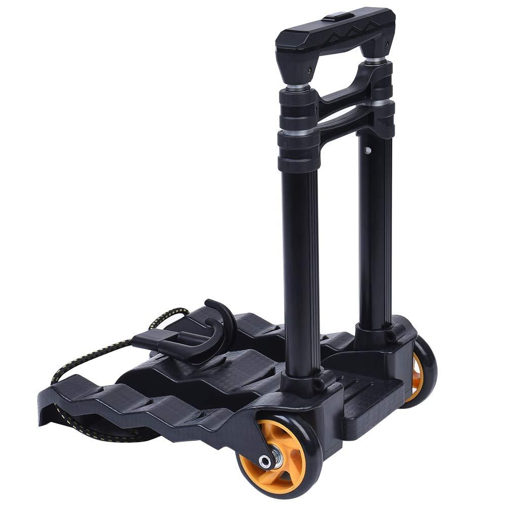 TULFUL 70 Load Capacity Folding Trolley Portable Heavy Luggage Cart Retractable Trolley