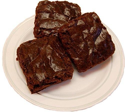 (Fake Chocolate Brownie 3 Piece on Plate)