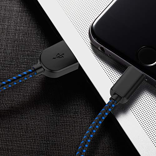 TNSO MFi Certified Lightning Cable 5Pack 3FT 3FT 6FT 6FT 10FT Extra Long Nylon Braided USB Fast Charging& Syncing Cord Compatible iPhone Charger Xs MAX XR X 8 8 Plus 7 7 Plus 6s Plus 6 Plus by TNSO (Image #6)