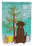 Caroline's Treasures BB4181GF Merry Christmas Tree Chocolate Labrador Garden Size Flag, Small, Multicolor Review