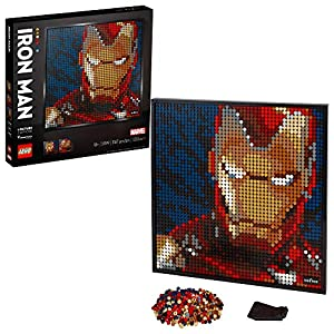 LEGO Art Marvel Studios Iron Man 31199 Building Kit for Adults; A Creative Wall Art Set Featuring Iron Man That Makes an…