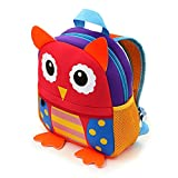 BTSKY Animal Little Kid Backpack, Baby Toddler Preschool Backpacks for Boys and Girls (Owl)