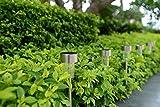 Boomile Stainless Steel Outdoor Garden Lights, Solar Pathway Lights
