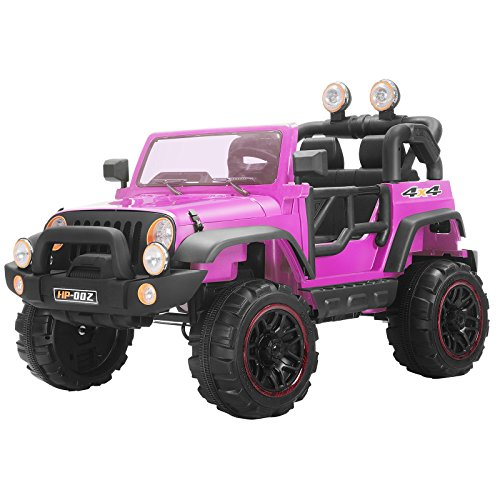 12V Kids Ride on Cars Electric Battery Power Wheels Remote Control 2 Speed Pink + FREE E-Book