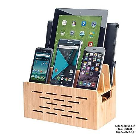 Amazon.com: mobilevision Soporte de bambú con altavoz Cutout ...