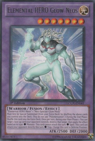 Yu-Gi-Oh! - Elemental HERO Glow Neos (LCGX-EN061) - Legendary Collection 2 - Unlimited Edition - Rare