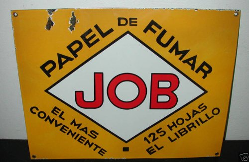 Job Porcelain Enamel Cigarette Paper Spanish ()
