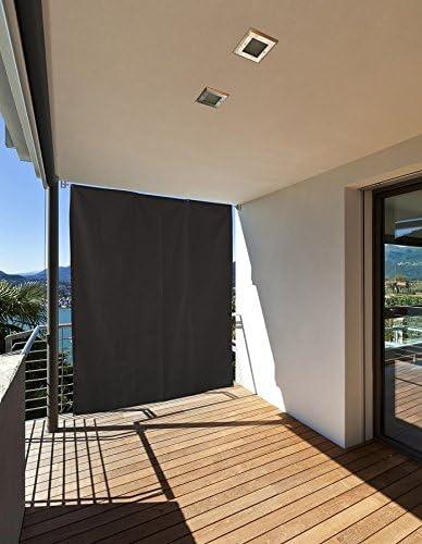 empasa - Biombo Exterior Vertical para balcón con Ojales + Cuerda, 230 x 140 cm, Gris Oscuro: Amazon.es: Jardín
