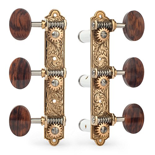 Sloane Classical Machines with Leaf Bronze Baseplates, Snakewood knobs
