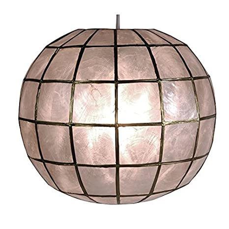Amazon.com: oriental furniture Princess Capiz lámpara de ...